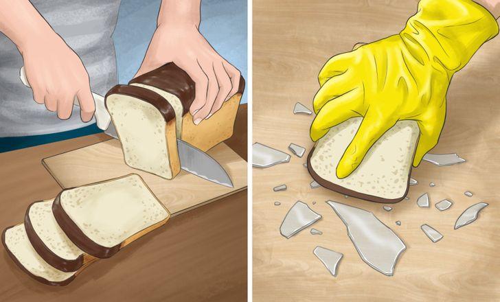 tips de limpieza con pan