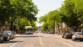 street in greenpoint neighborhood, brooklyn