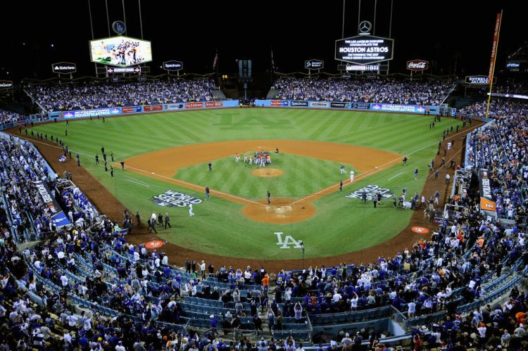 Dodger Stadium on November 1, 2017 in Los Angeles, California.