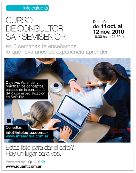 Curso de Consultor SAP SemiSenior  Modulo PM