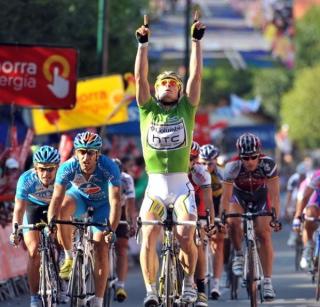 Greipel. 2009ko Vueltako 16. etapan garaipena