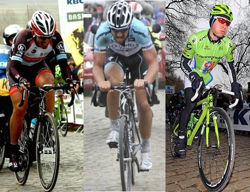 Cancellara, Boonen eta Sagan
