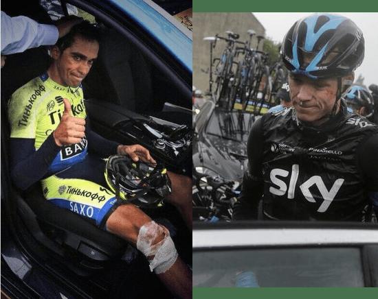 Contador eta Froome Tourra utzi duten uneak
