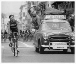 Poulidor, 1961ko Milan-San Remo irabazi zuen unean