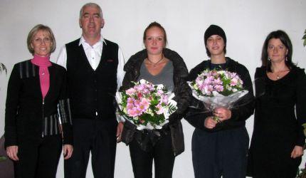 Cette année, 4 filles ont participé aux formations de l'AFRA-BTP en Haute-Savoie. Les deux filles présentes ont été mises à l'honneur par M.RABATEL.