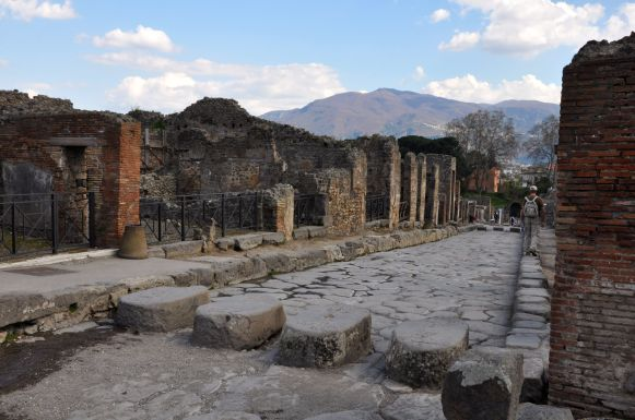 The ancient streets of Pompeii