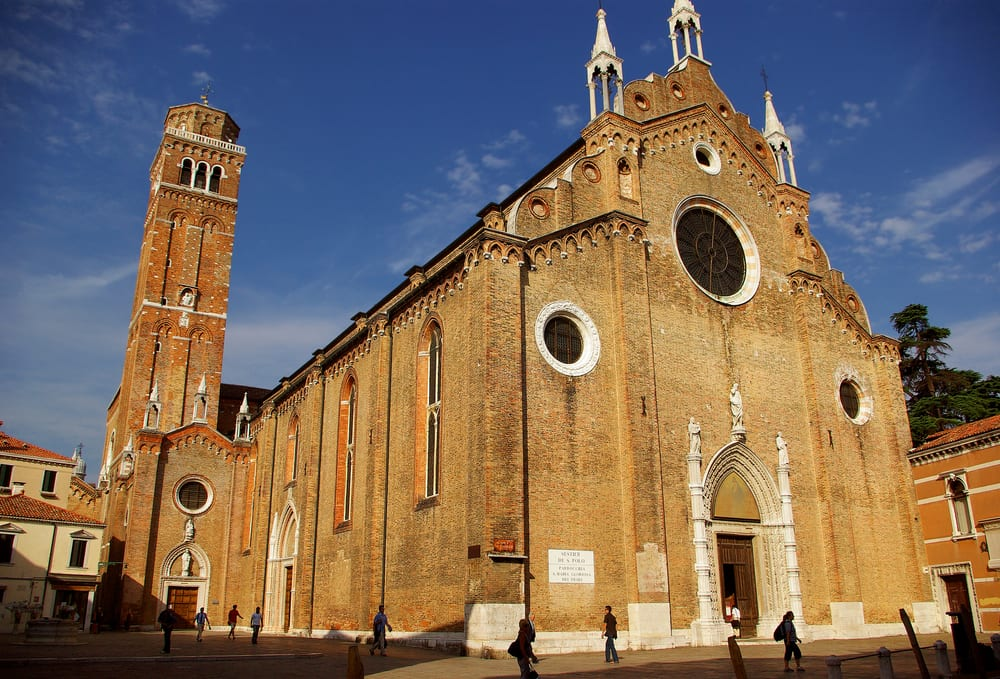 Santa Maria Gloriosa dei Frari church in San Polo neighborhood of Venice
