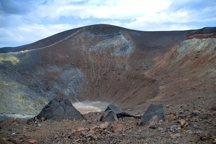 The volcanic crater at Stromboli