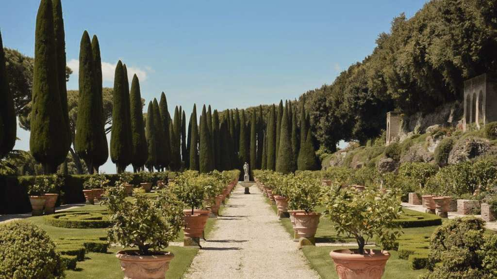 The beautiful grounds of Castel Gandolfo