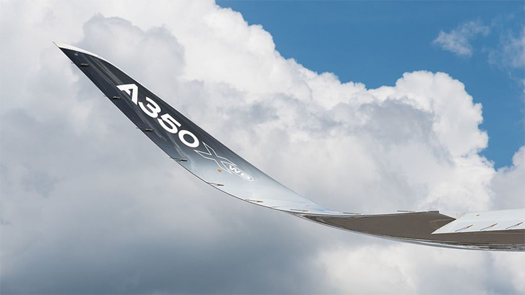 sharklet o winglet de un A350