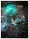 cement mixer with a touch of green