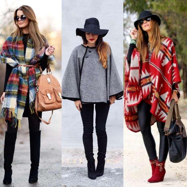 Looks usando casaco Poncho inspiracao