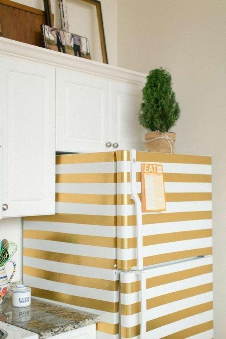 Washi tape na geladeira
