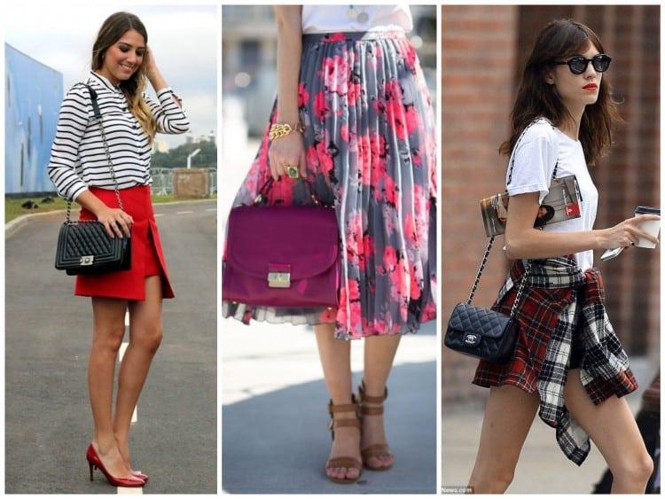 a melhor escolha_looks usando mini bolsa