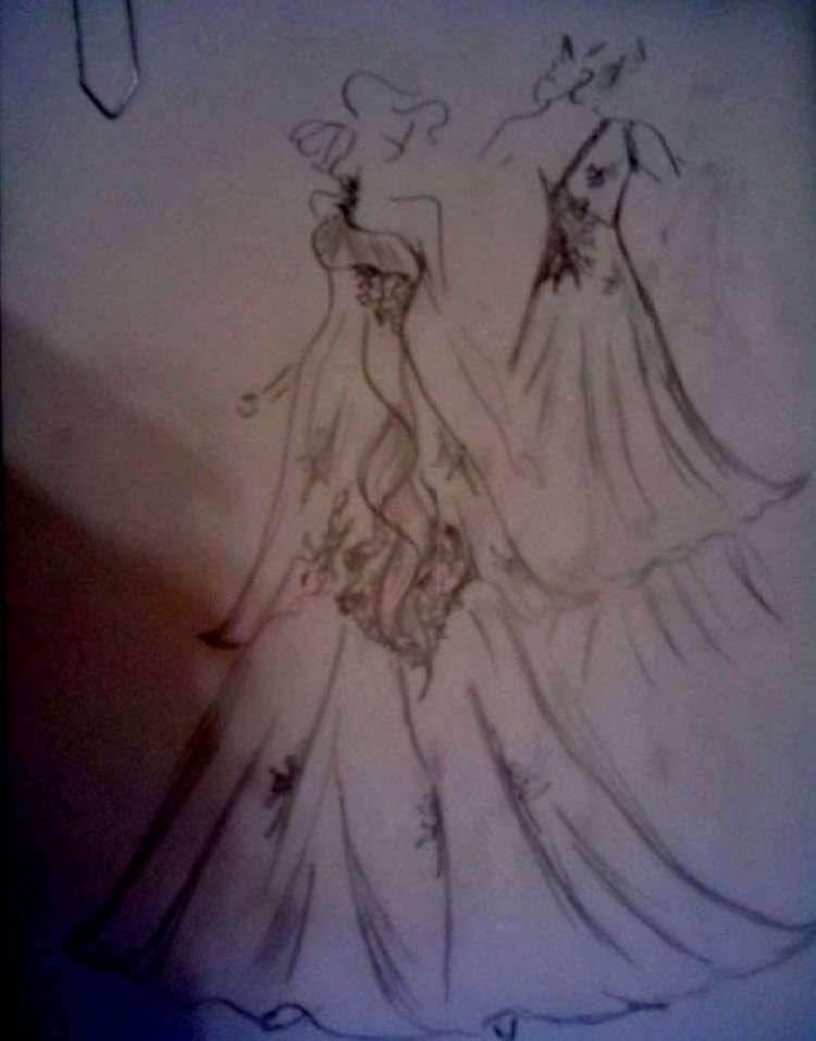 a melhor escolha_desenho vestido de noiva feito por estilista
