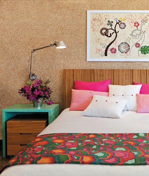 decoracao com flores no quarto