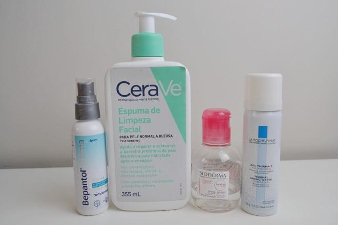 post com dicas de produtos para cuidados com peles sensiveis