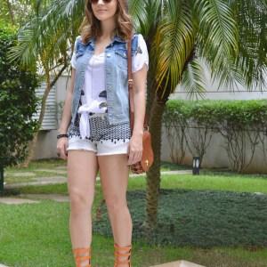 #Verão: Look com Sandália Gladiadora