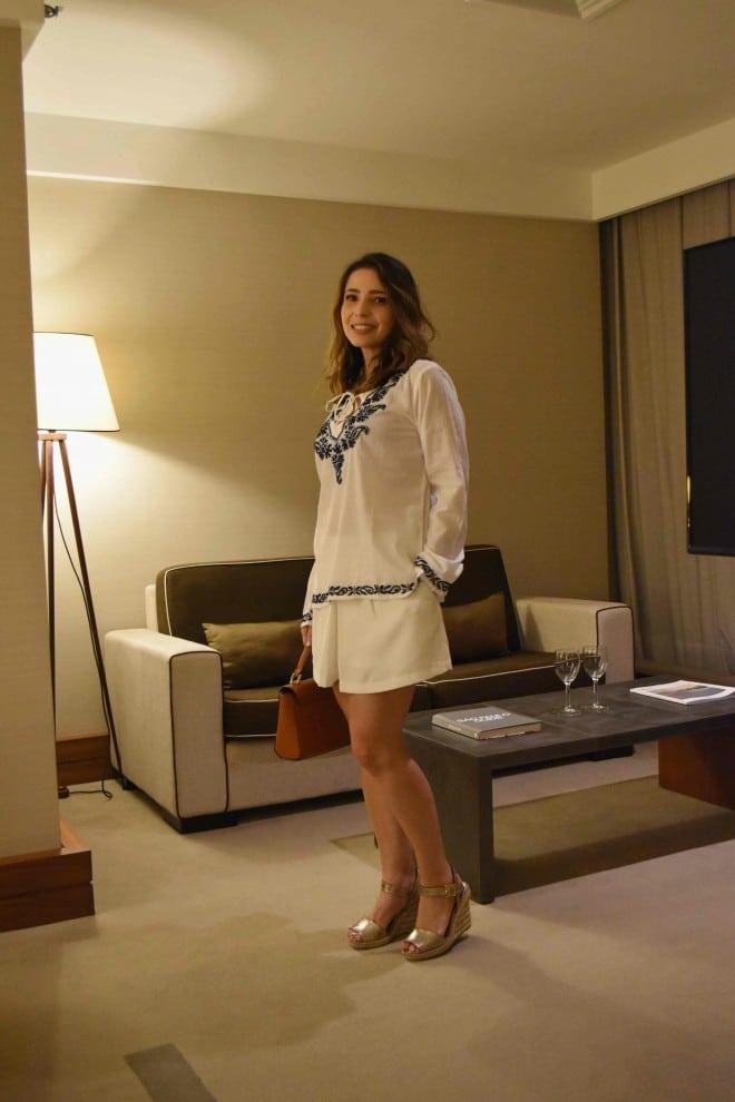 post sobre o look de ano novo usando branco