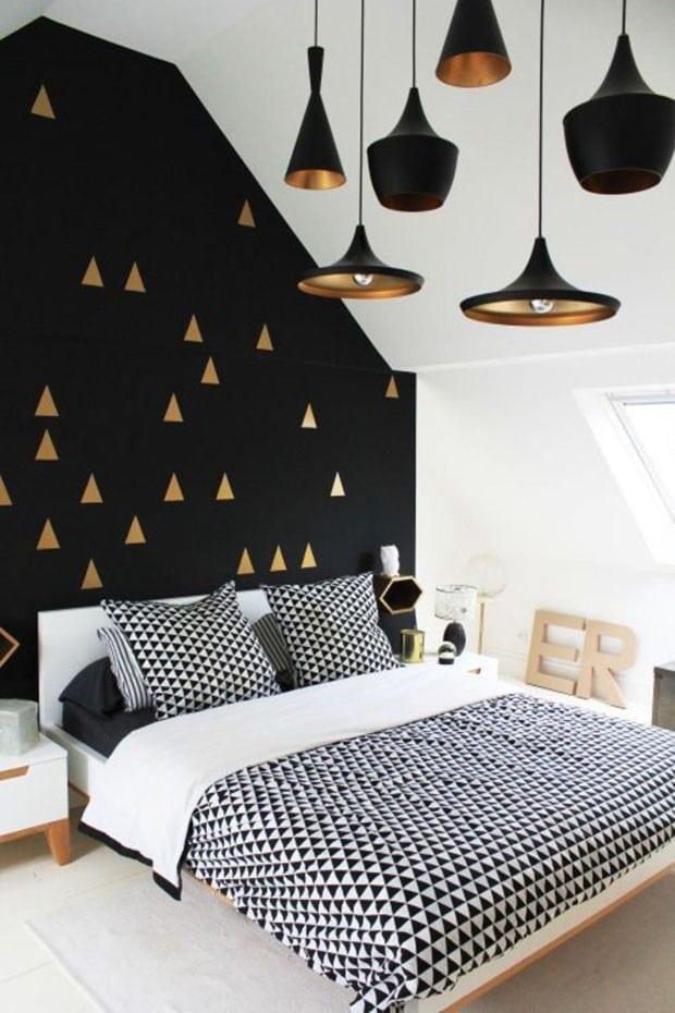 preto e branco para quarto, sala, cozinha e banheiro