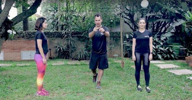 Treino para definir o corpo inteiro com o personal treino Marcio Lui e Fê Gonçalves