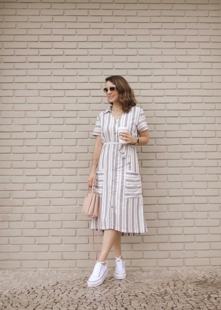 Como usar tênis com vestido midi?