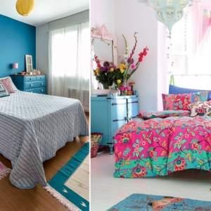 Todo encanto de um quarto de menina em azul