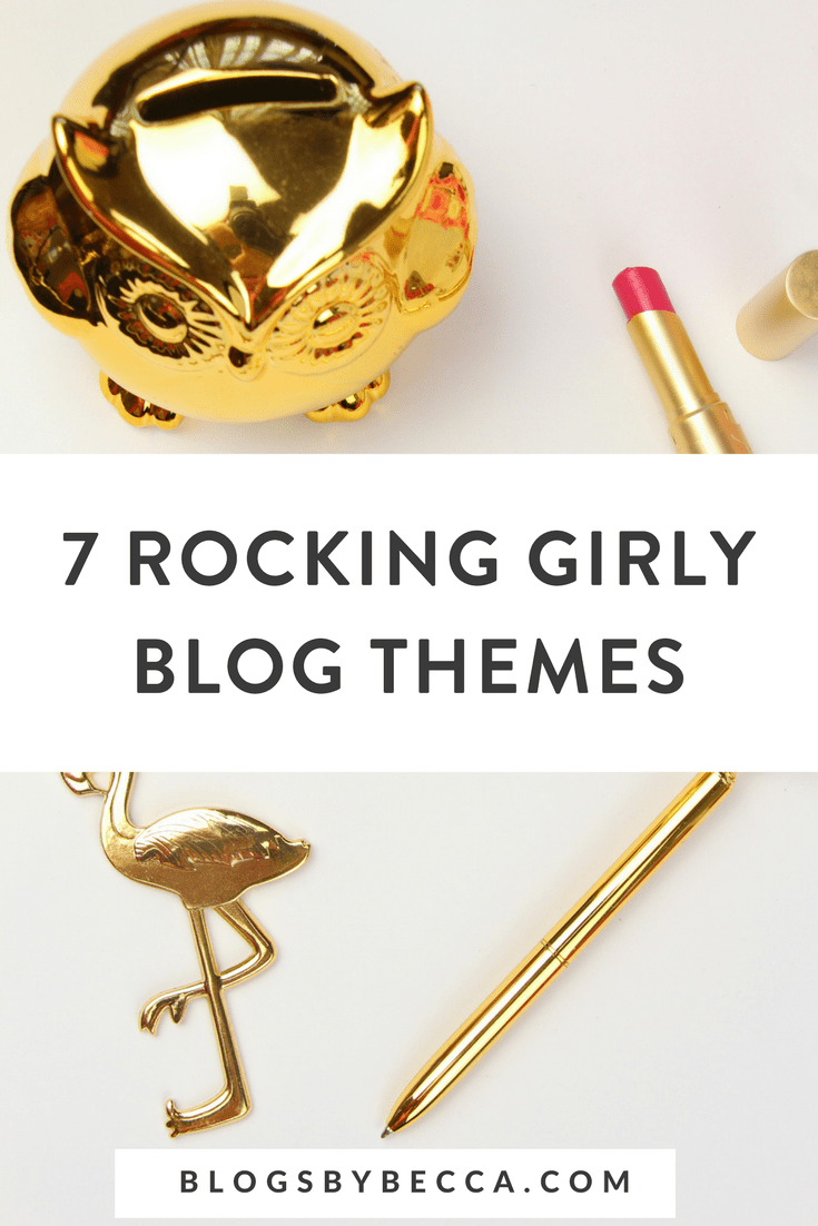 7 Girly Blog Themes I'm Digging Right Now! Click to see these awesome WordPress blog themes for bloggers. #blog, #blogtips, #blogging, #wordpress, #wordpresstheme