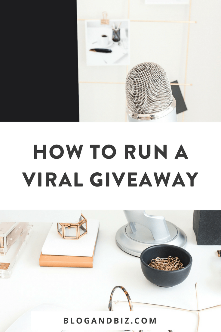 How to Run a Viral Giveaway and Get More Email Subscribers! Learn to run a giveaway to grow your email list! These are great blog tips! #blog, #blogging, #blogger, #blogtips, #blogbiz