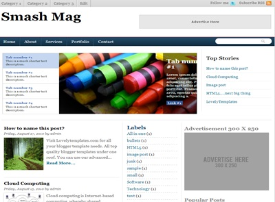 5 Templates para blog de noticias, estilo magazine