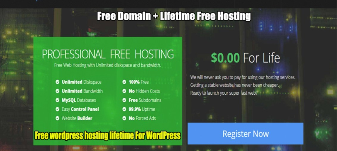 profreehost-free-hosting-for-wordpress-lifetime