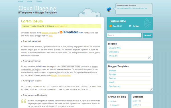 cloud-blogging-plantilla-blogger
