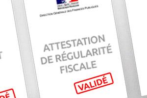 Attestation de régularité fiscale