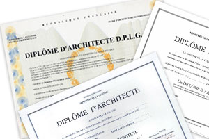 diplôme architecte