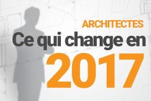 Architectes : nouveautés 2017