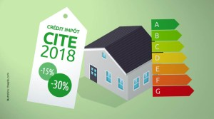 Crédit d'impôt CITE 2018