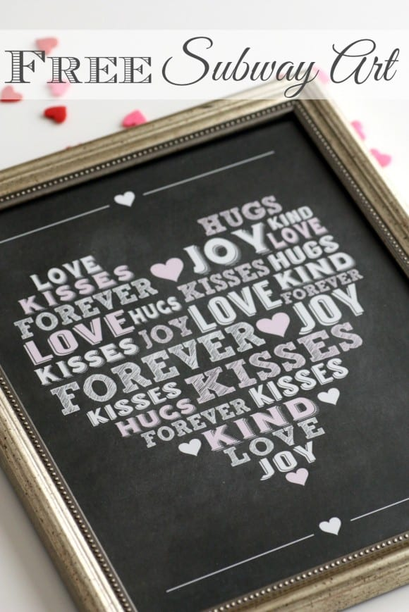 Free printable chalkboard subway art