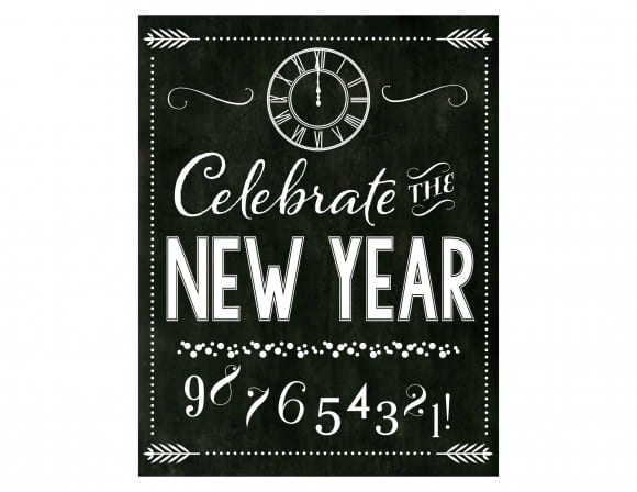 Printable New Year's Eve Collection via Mandy's Party Printables by Catch My Party