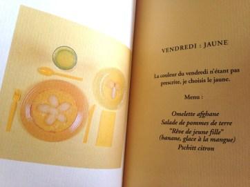 écrire repas et nourriture - livre  2