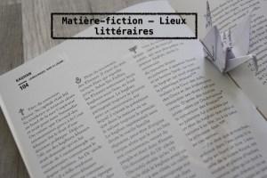 Syndrome de la page blanche - lieux matière fiction
