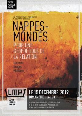 Lecture/Rencontres Nappes-mondes - affiche