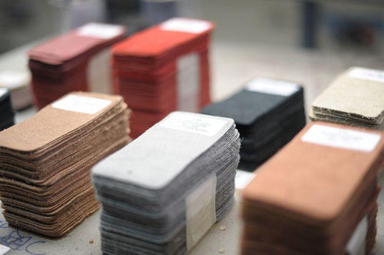 Echantillons de cuir de LSA