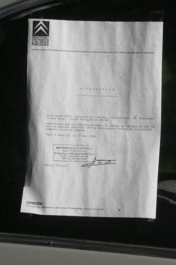 2CV Brioult attestation