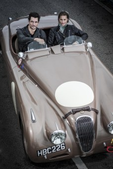 Yasmin Le Bon_David Gandy in XK120