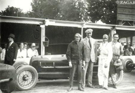 Baconin Borzacchini, Enzo Ferrari, Tazio Nuvolari, Eugenio Siena