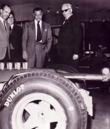 Enzo Ferrari et Giovanni Agnelli à Maranello en 1966