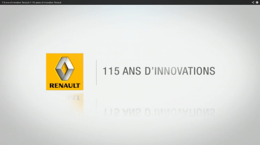 Renault 115 ans innovations