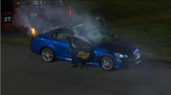 Chevrolet SS en feu