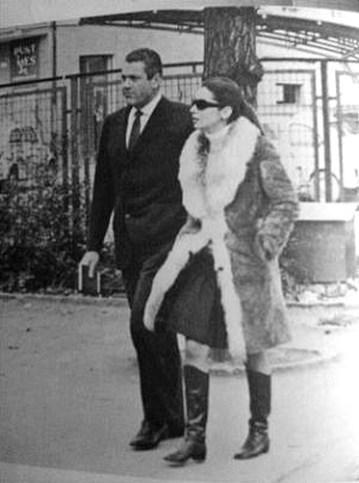 Gianni Lancia et son épouse Jacqueline sassard en 1968 à Maranello
