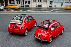 2012 Fiat 500c Pop (left) with 1962 Fiat 500 (right)